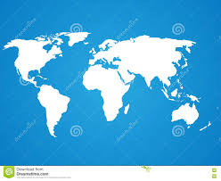 World Map Silhouette Blue Silhouette Of World Map Stock Vector Image 78616854