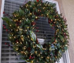 outdoor wreaths lighted lights decoration