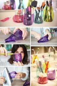 hair and makeup organizer diy makeup tutorials 11 recycled plastic bottle makeup