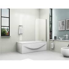 Shower Screens For Bath Pivot Bath Shower Screen Door Panel 6mm Glass
