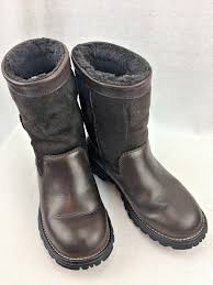 womens ugg leather ankle boots ugg cameron chestnut leather tie ankle s boots size us 8 uk
