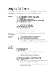 Sample Resume For Teaching by Sample Resume Teacher Ontario Augustais