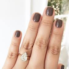 gold pear shaped engagement ring grey nails pear shaped engagement ring manicure