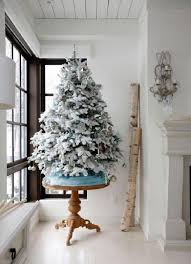 Christmas Tree With Blue Decorations - 26 best flocked christmas tree décor ideas digsdigs