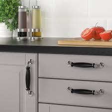 black and chrome kitchen cupboard handles skärhamn handle black chrome plated 148 mm