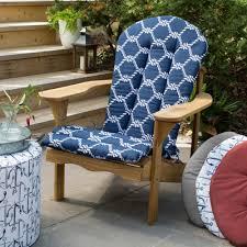 Navy Blue Patio Chair Cushions Nautical Adirondack Chair Cushion Durable Spun Polyester Fabric