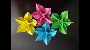 diy simple origami paper flowers easy wall home decoration