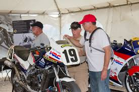 vintage motocross gear ama superbike display honors 40 year history of sport american