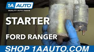 how to install replace engine starter 1997 04 ford ranger youtube