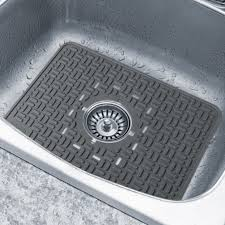 Image Of Fanciful Drain Hole Kitchen Room In Kitchen Sink Mats Black