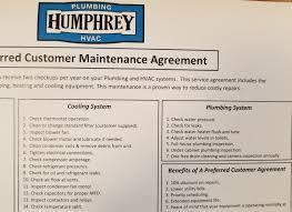 humphrey plumbing heating and air i plumbing maintenance program