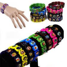 saints bracelet 100pcs lot mix colors religious jesus saints stretch wooden