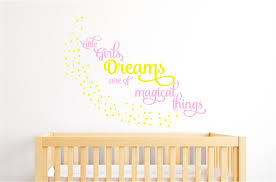 Letter Wall Decals For Nursery little girls dreams stars nursery decor vinyl decal wall stickers