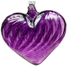 purple glass ornament velvet