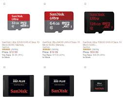 best black friday deals on sdxc cards deal sandisk memory cards are up to 50 off today on amazon