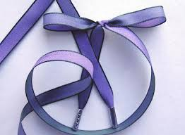 iridescent ribbon all about shoelaces violet green iridescent ribbon shoelaces