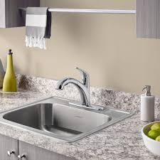 Single Kitchen Sinks by Colony 25x22 Inch Stainless Steel Kitchen Sink 4 Hole American