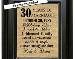 30th wedding anniversary gift ideas 30th anniversary etsy