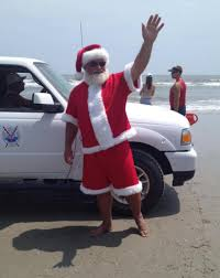wildwood 365 christmas in july santa on the beach boat parade
