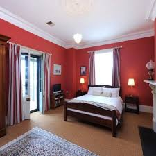 bedroom decorating ideas with red interior design
