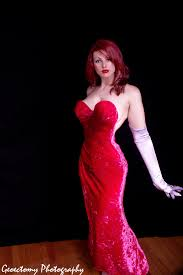 Halloween Costume Jessica Rabbit Impossible Dress Design Beautiful Cosplay 11