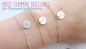 Personalized Jewelry Most Common Initials For Personalized Jewelry Cami Tout Pulse