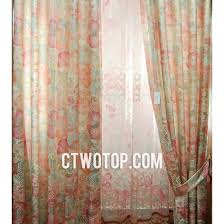 Gold And Teal Curtains Romantic Dreamy Gold And Pink Floral Insulated Porch Curtains