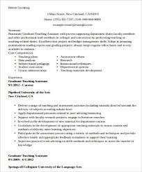 Samples Of Resumes For Teachers by Sample Teaching Assistant Resume 9 Examples In Word Pdf