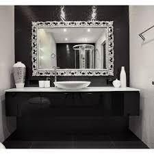 bathroom cabinets silver rectangle mirror small decorative
