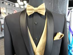 Free Shipping High Quality Men Bow Tie Black Gold Color Male