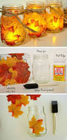 autumn leaf mason jar candle holder 15 diy ideas for autumn