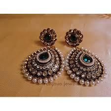 craftsvilla earrings buy stylo pearl polki danglers online shopping for earrings by