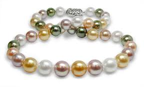 color pearl necklace images 10mm to 11mm natural color rainbow pearl necklace american pearl jpg