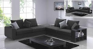 grey fabric modern living room sectional sofa w wooden legs grey fabric modern f8066 sectional sofa w side shelves