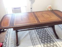 Henredon Coffee Table by Have A Heritage Henredon Drop Leaf Coffee Table With A Leather Top