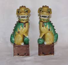 foo dog for sale a pair of sancai export foo dogs c 1910 30 from decosurfn