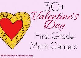 first grade valentine math centers