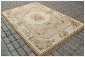 9 u0027x12 u0027 pastel light green ivory aubusson area rug french shabby