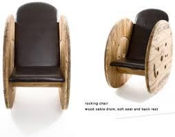 costruire sedia a dondolo costruire una poltrona con una bobina di cavo di legnomobili con