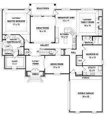 1 4 bedroom house plans 4 bedroom 3 bath house plans homes floor plans