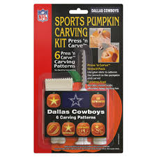 pumpkin carving kits topperscot dallas cowboys pumpkin carving kit