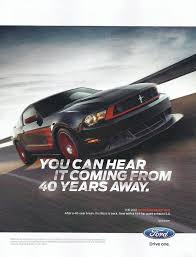 ford mustang ad 2012 ford mustang 302 ad you can hear it coming from 40