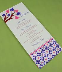 spring wedding menu template with heart tree menu templates