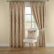 buy montgomery realm gold lined pencil pleat curtains 117cm wide