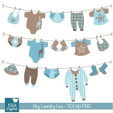 laundry line design boy laundry line digital clipart scrapbooking card design