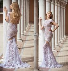 lilac dresses for weddings new fashion gownlace lilac wedding dress mermaid backless