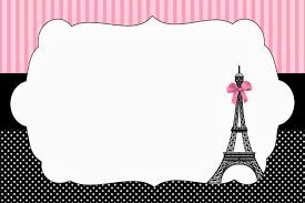 paris invitations and free party printables is it for parties