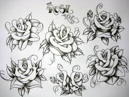 new school tattoo drawings black and white old school roses let s get more tattoos pinterest tattoo flash