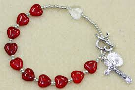rosary bead bracelet heart rosary bracelet easy tutorial bead world