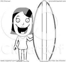 clip art surfboard coloring pages mycoloring free printable